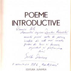 Gellu Dorian - Poeme introductive cu autograf
