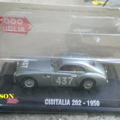 Macheta metal Cisitalia 202 Coupe - 1950 SIGILATA - 1000 Miglia Hachette 1/43 - Macheta auto