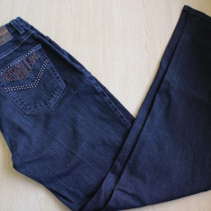 Blugi dark grey de designer, Trussardi - Blugi dama Trussardi, Marime: 38, Culoare: Din imagine, Slim Fit, Lungi, Normal