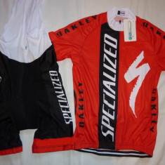 Echipament ciclism complet specialized deltaco set pantaloni cu bretele tricou, Tricouri