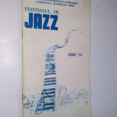 Festivalul de jazz Sibiu '84 - Pliant Meniu Reclama tiparita