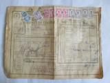 SCRISOARE DE TRASURA MICA IUTEALA CU 11 TIMBRE(FISCALE,STATISTIC,AVIATIE) 1932