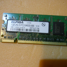 LOT 10 BUCATI Memorie Laptop Elpida Sodimm DDR2 1 GB 800 Mhz PC2-6400 - Memorie RAM laptop
