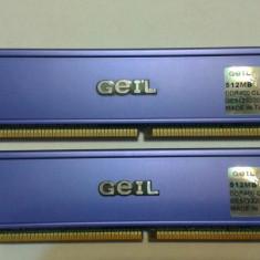 GEIL 2 x 512 Mb DDR400 - PC3200 - Memorie RAM Geil, 400 mhz, Dual channel