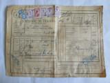 SCRISOARE DE TRASURA MICA IUTEALA CU 7 TIMBRE(FISCALE,AVIATIEI,STATISTIC) 1932