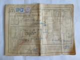 SCRISOARE DE TRASURA MICA IUTEALA CU 3 TIMBRE(FISCAL,STATISTIC,AVIATIEI) 1932