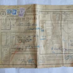 SCRISOARE DE TRASURA MICA IUTEALA CU 3 TIMBRE(FISCAL, STATISTIC, AVIATIEI) 1932