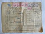 SCRISOARE DE TRASURA MICA IUTEALA CU 12 TIMBRE(FISCALE,AVIATIEI) 1932