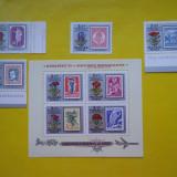 HOPCT UNGARIA 1971 CENTENARUL MARCII POSTALE - 4 VAL SI 1 COLITA --MNH 373 - Timbre straine, Nestampilat