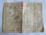 SCRISOARE DE TRASURA MICA IUTEALA CU 5 TIMBRE(FISCALE,AVIATIEI) 1932