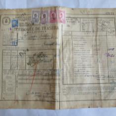 SCRISOARE DE TRASURA MICA IUTEALA CU 5 TIMBRE(FISCALE, AVIATIEI) 1932
