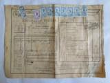 SCRISOARE DE TRASURA MICA IUTEALA CU 10 TIMBRE(FISCALE,STATISTIC,AVIATIE) 1932