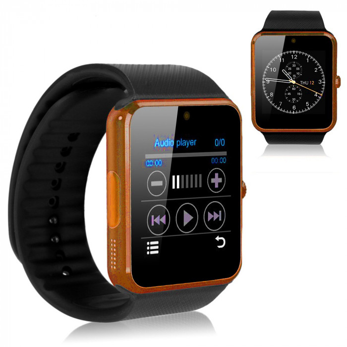 SMARTWATCH Inteligent SIM GT08 Ceas Telefon Video Smart-Watch Android iPhone NOU foto mare