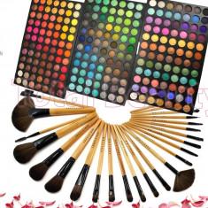 Trusa machiaj profesionala 252 culori Fraulein Germania + Set 24 pensule machiaj - Trusa make up