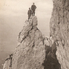 WW1 ALPINISTI LA SALEVE PE VARFUL PISCULUI, Franta, Circulata, Printata