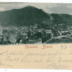 1477 - L i t h o, BRASOV - old postcard - used - 1903 - Carte Postala Transilvania pana la 1904, Circulata, Printata