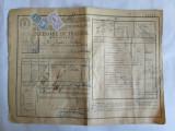 SCRISOARE DE TRASURA MICA IUTEALA CU 3 TIMBRE(FISCAL,STATISTIC,AVIATIE) 1932