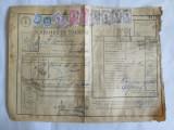 SCRISOARE DE TRASURA MICA IUTEALA CU 9 TIMBRE(FISCALE,STATISTIC,AVIATIE) 1932