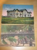 2 carti postale Techirghiol Hotel Movila si Slanic Moldova Podul de la Isvorul 1
