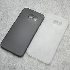 Husa Samsung Galaxy S6 Edge Ultra Slim 0.3mm Mata Black, Negru, Plastic