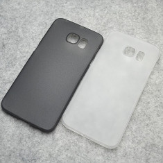 Husa Samsung Galaxy S6 Edge Ultra Slim 0.3mm Mata Black - Husa Telefon Samsung, Negru, Plastic, Fara snur, Carcasa