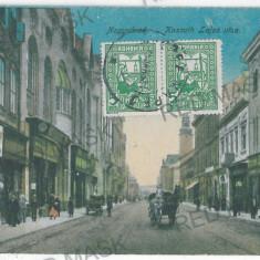 2399 - Bihor, ORADEA, street stores - old postcard - used - 1921 - TCV - Carte Postala Crisana dupa 1918, Circulata, Printata