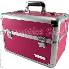 Geanta mare roz Produse Cosmetice din aluminium Fraulein38, culoarea Pink - Geanta cosmetice