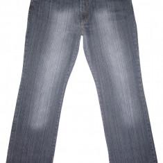 (BATAL) Blugi NEW DENIM - (MARIME: 52) - Talie = 110 CM, Lungime = 115 CM - Blugi barbati, Culoare: Gri, Prespalat, Drepti, Normal
