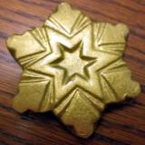 Magnet de frigider - stea/fulg de zapada - handmade