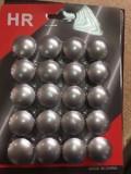 Ornamente capace capacele prezoane gri metalizat argintiu