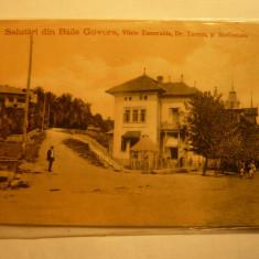 Ilustrata clasica Govora, Vila Esmeralda - tp UPU cca.1900 Ed.Mayer si Stern - Carte Postala Oltenia pana la 1904, Necirculata, Printata