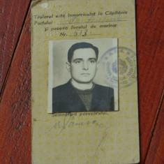 Carte de legitimatie / directia marinei comerciale - portul Turnu Severin anii50 - Brevet