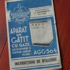 Instructiuni de utilizare Aparat de gatit cu gaze AGG 304 - Int. 1 Septembrie !!