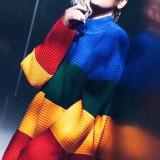 BL560 Pulover tricotat model curcubeu