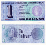 VENEZUELA 1 bolivar 1989 UNC!!!