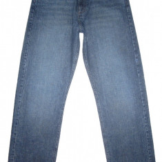 Blugi WRANGLER - (MARIME: 32 X 34) - Talie = 84 CM / Lungime = 118 CM - Blugi barbati Wrangler, Culoare: Albastru, Prespalat, Drepti, Normal