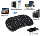 Tastatura wireless mini TV Android SMART TV box media MultiTouch Reincarcabila, USB, Fara fir