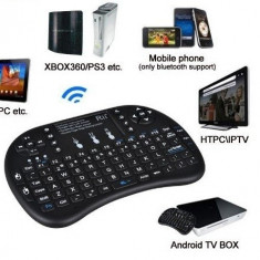 Tastatura wireless mini TV Android SMART TV box media MultiTouch Reincarcabila, Mini tastatura, Fara fir, USB