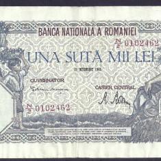ROMANIA 100000 100.000 LEI 21 OCTOMBRIE 1946 [6] VF++ - Bancnota romaneasca