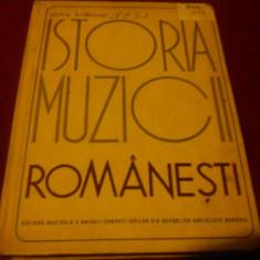 PETRE BRANCUSI - ISTORIA MUZICII ROMANESTI - Carte Arta muzicala