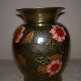 Vaza din bronz emailata - Metal/Fonta