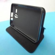 Husa ALLVIEW E4 / E4 Lite Flip Case Slim Black - Husa Telefon Allview, Negru, Piele Ecologica, Cu clapeta, Toc