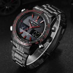 Ceas Militar NaviForce, Military Watch, Dual Display - Ceas barbatesc, Quartz, LED