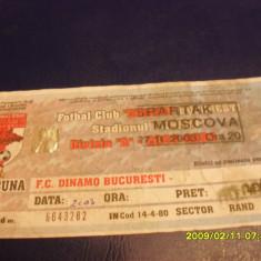 Bilet Dinamo - Spartak Moscova - Bilet meci