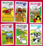 1978 New Zealand 6v. AGRICULTURA Lincoln University Sc 660-665 timbre noi ** MNH