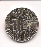 No(4) moneda-ROMANIA- 50 bani 2015- 10 ANI DE LA DENOMINAREA MONEDEI NATIONALE