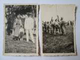 2 FOTO ANII 30:DEFILARE STREJARITE IN COSTUME NATIONALE+OFITER TINUTA PARADA