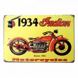 3322.Reclama metalica vintage Motocicleta Indian 1934  30 cm X 20 cm