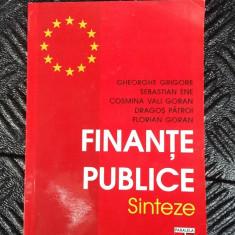 FINANTE PUBLICE SINTEZE -GRIGORIE ,GORAN,PATROI