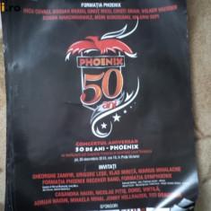 formatia phoenix timisoara afis concert aniversar 50 ani poster fan muzica rock